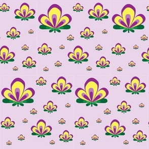 Art Deco Flower Lilac