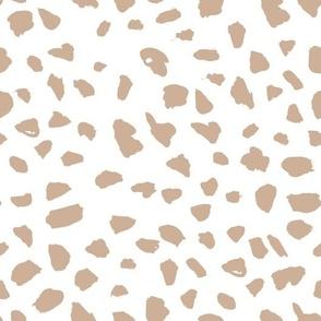 Pastel love brush spots and ink dots hand drawn modern illustration pattern scandinavian style pattern in beige