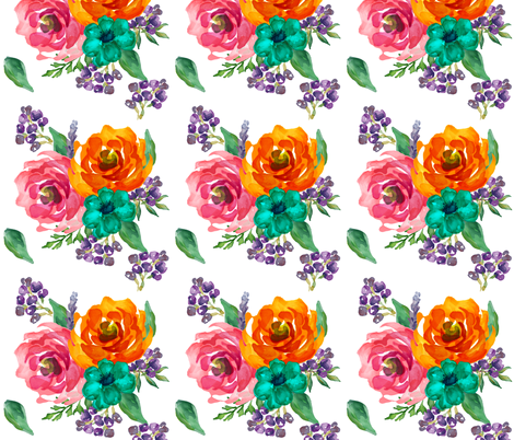 Bright Florals Extra Flowers fabric by shopcabin on Spoonflower - custom fabric