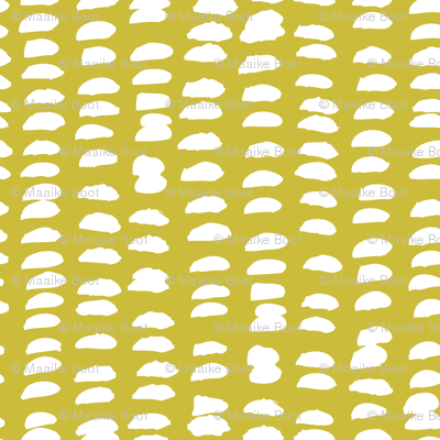 Pastel love brush sprinkles strokes stripes and spots hand drawn ink illustration pattern scandinavian style in mustard yellow