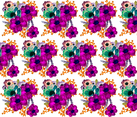Mod Vibrant Flowers  fabric by shopcabin on Spoonflower - custom fabric