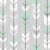 Retro Mint Gray Arrows