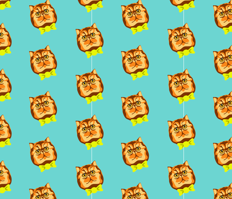 Cats in Bowties fabric by jollyjennifer on Spoonflower - custom fabric