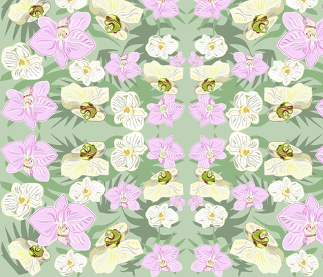 orchidmixpatt fabric by snap-dragon on Spoonflower - custom fabric