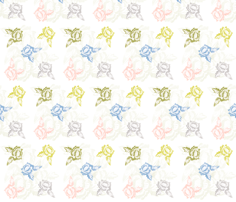 sketched_floral_repeat fabric by jennifer_rizzo on Spoonflower - custom fabric