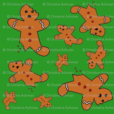 Gingerbread Men Green