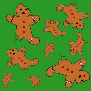 Gingerbread Men Green