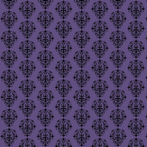 Spooky Purple & Black Damask-ch