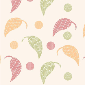 Ornamental leaf pattern 01
