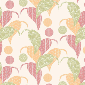 Ornamental leaf pattern 02