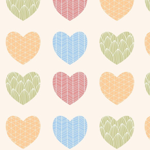 Ornamental heart pattern 01