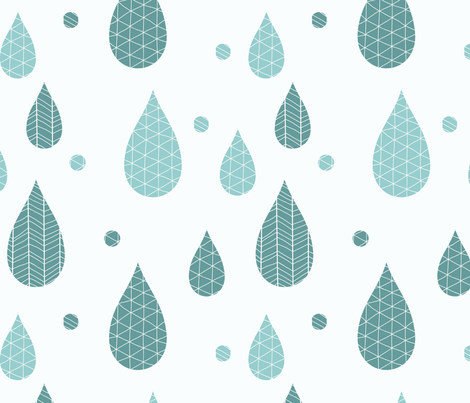 Rain drop pattern 01 fabric by bluelela on Spoonflower - custom fabric