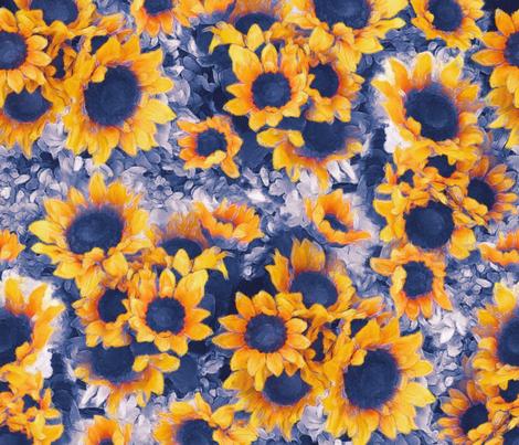 Sunflowers fabric by mjmstudio on Spoonflower - custom fabric