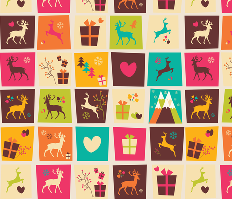 Christmas Reindeer Pattern 03 fabric by bluelela on Spoonflower - custom fabric