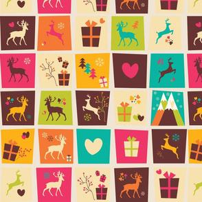 Christmas Reindeer Pattern 03