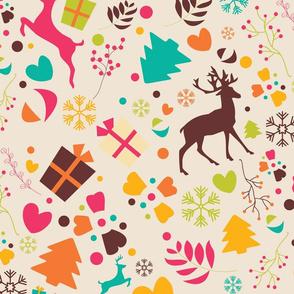 Christmas Reindeer Pattern 06