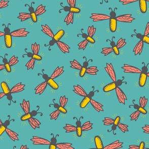 Fireflies - Teal