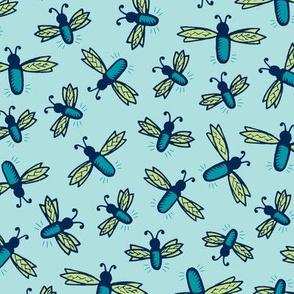 Fireflies - Blue