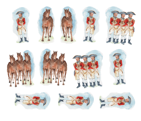 All_the_Kings_Men_and_Horses fabric by edithschmidt on Spoonflower - custom fabric