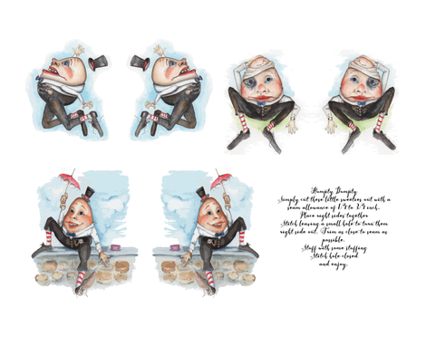 Humpty_Dumpty_Dolls_ fabric by edithschmidt on Spoonflower - custom fabric