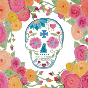 Sugar Skull with Roses