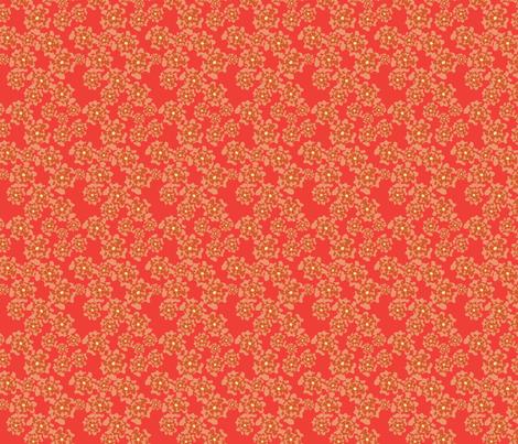 flower_coral_yardage-01 fabric by chesapeaketess on Spoonflower - custom fabric
