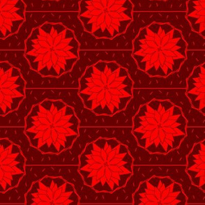 Art Deco Style Poinsettia Bloom (seamless repeat)