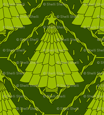 Art Deco Style Christmas Tree (seamless repeat)