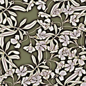 Floral Moonlight in pewter