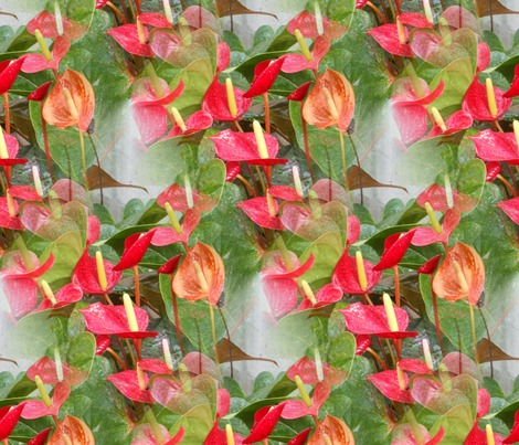 flower fabric by modernfox on Spoonflower - custom fabric