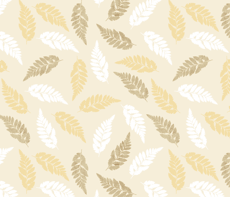 Fern Frond Pattern fabric by mathias_designs on Spoonflower - custom fabric