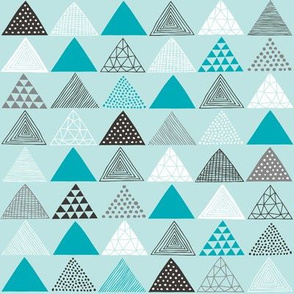 Triangles in Aqua Blue