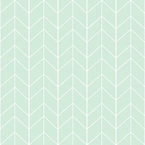 Small Arrow Chevron - Mint
