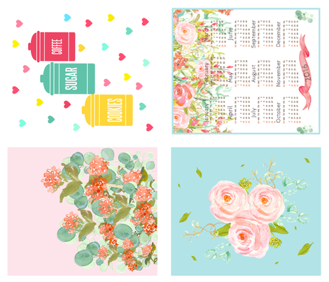 2016 Tea Towels Kitchen DIY fabric by shopcabin on Spoonflower - custom fabric