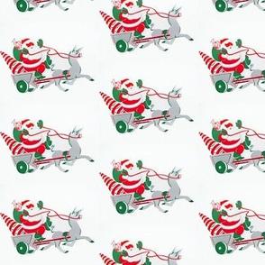 Santa Donkey Cart
