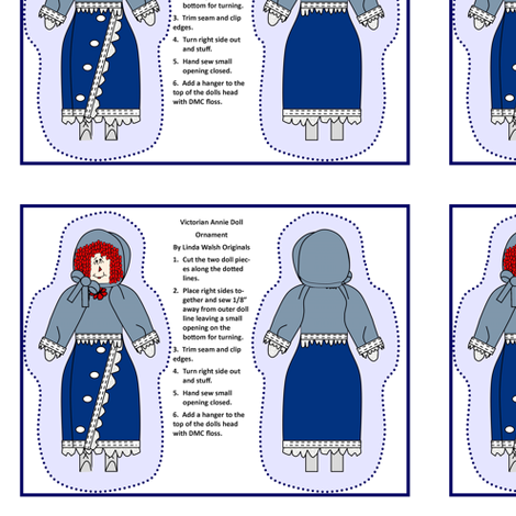 Victorian Annie Cut and Sew Doll fabric by lworiginals on Spoonflower - custom fabric