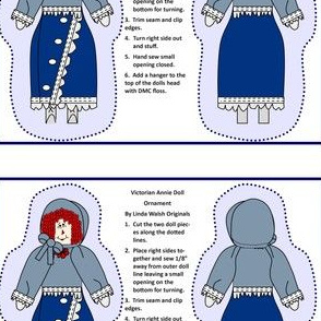 Victorian Annie Cut and Sew Doll