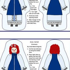 Annie - Be Cut and Sew Doll Ornament