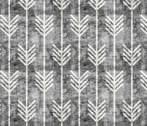 arrow_grunge_dark fabric by holli_zollinger on Spoonflower - custom fabric