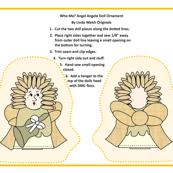 Angel Angela Cut and SEw Angel Doll Ornament