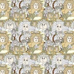 Angels Christmas Holiday Fabric 1