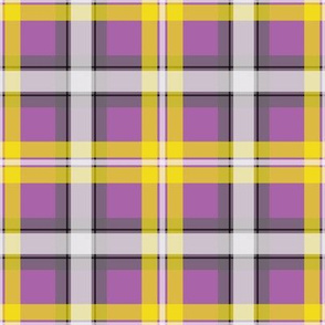 Dean's Yellow, White and Gray Plaid on Purple