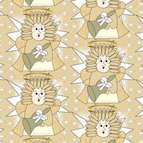 Angels Christmas Holiday Fabric 4
