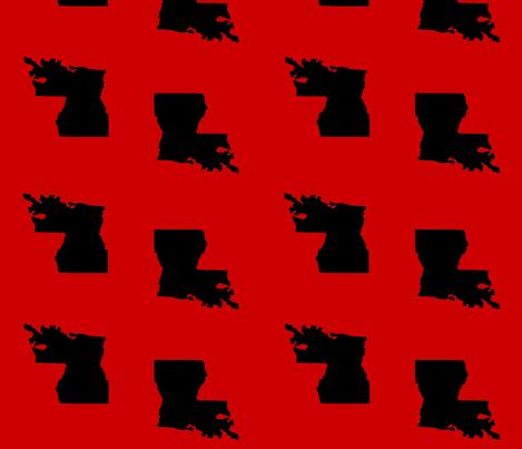 Louisiana State of Mind ULL Lafayette Ragin Cajuns fabric by cottagenest on Spoonflower - custom fabric