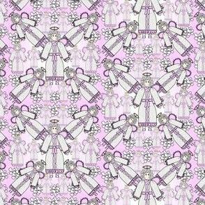 Angels Christmas Holiday Fabric 7