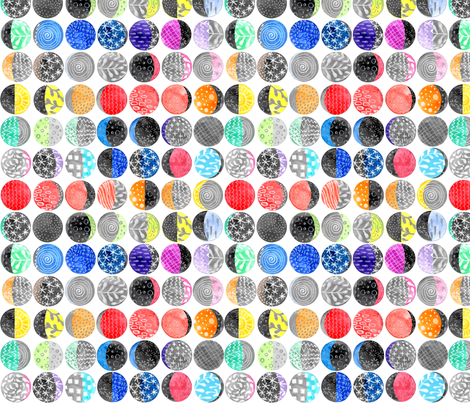 Rainbow Moon Phases fabric by emmaallardsmith on Spoonflower - custom fabric