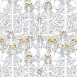 Angels Christmas Holiday Fabric 9