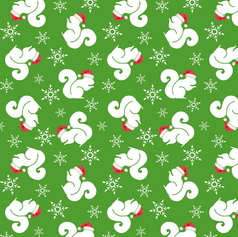 Santa Squirrels fabric by sufficiency on Spoonflower - custom fabric