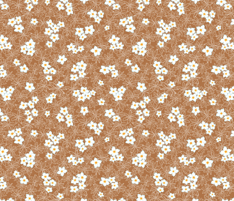 Anis Brown bg 10 inch fabric by thelazygiraffe on Spoonflower - custom fabric
