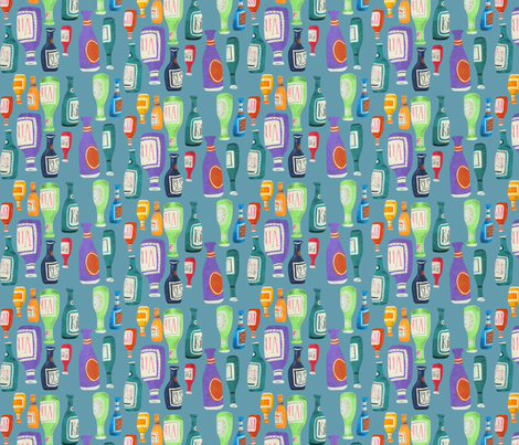 in vino veritas (turquoise) fabric by johnandwendy on Spoonflower - custom fabric